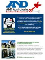 A&D Weighing Newsletter April 2012