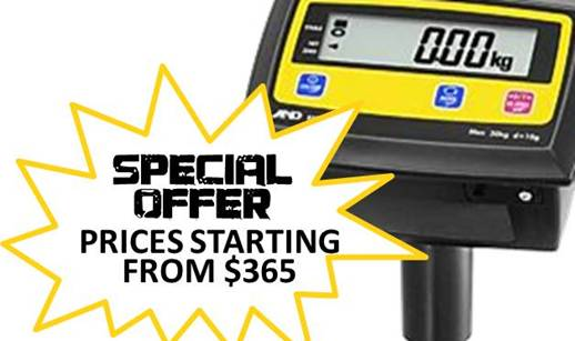 EM Value Parcel Scales - A&D Quality from only $480 (ex GST)!